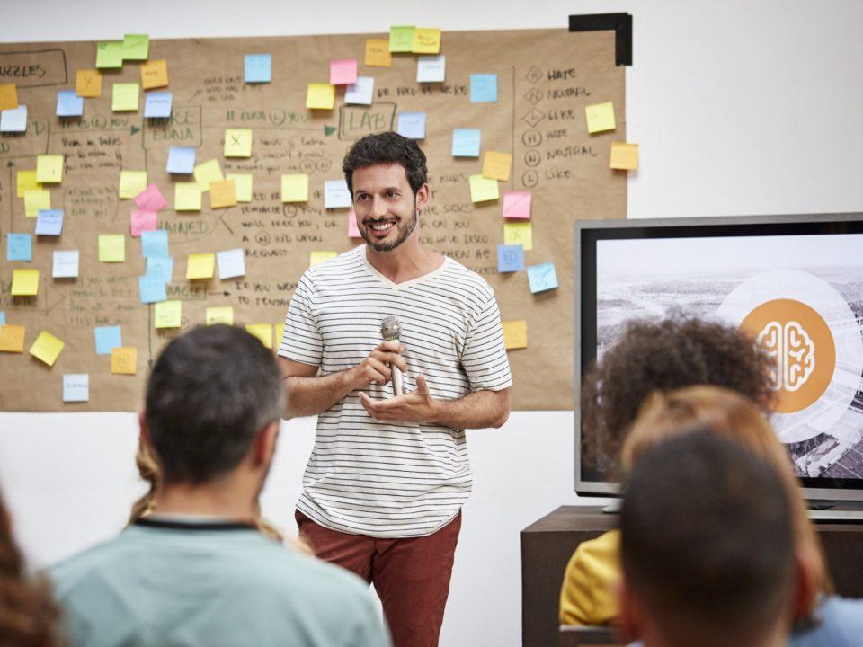 apresentar ideias para o chefe