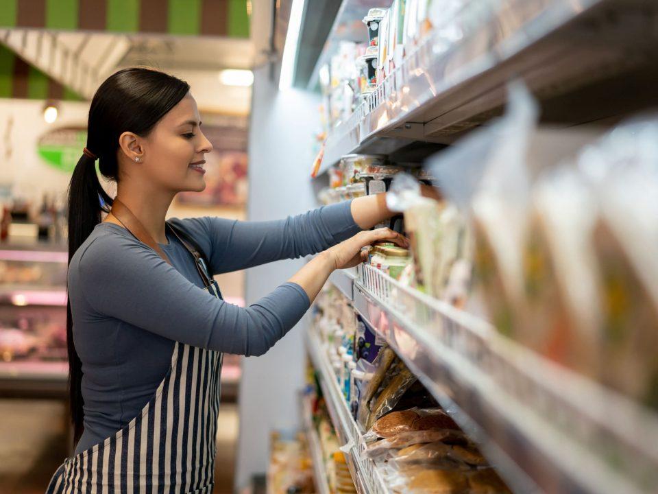 como organizar as prateleiras de supermercado
