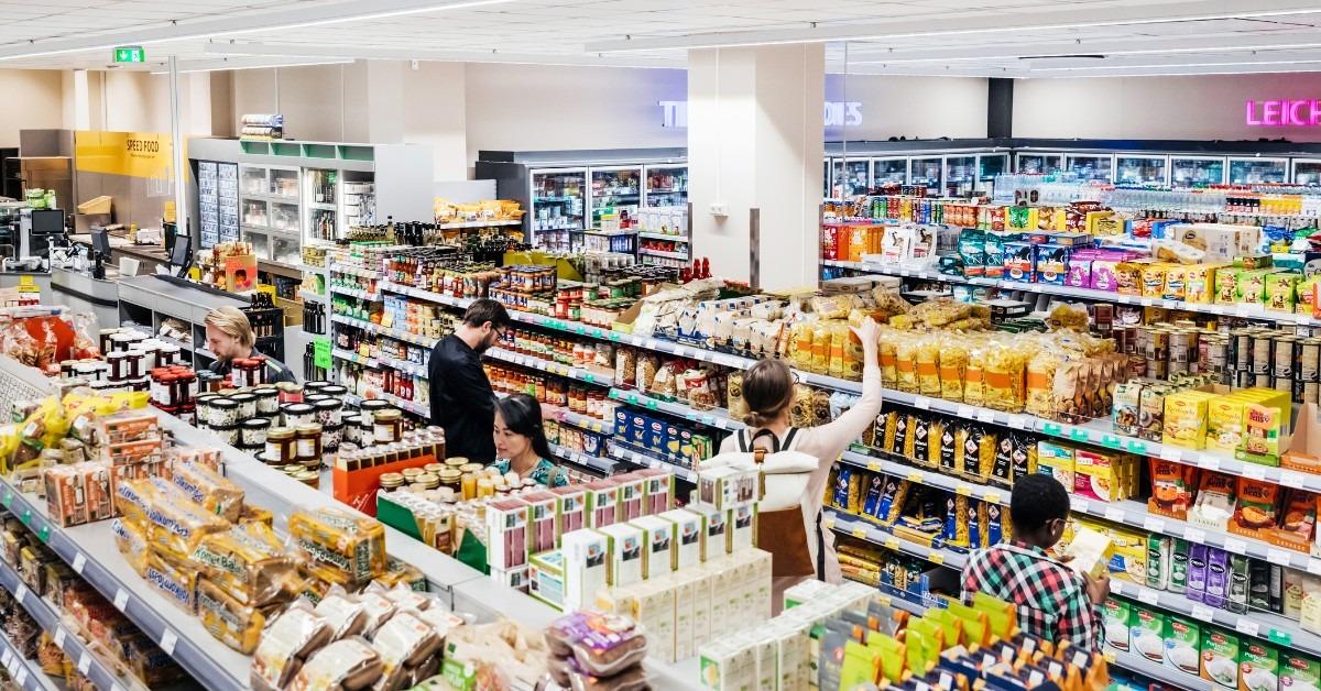 comunicação visual no supermercado