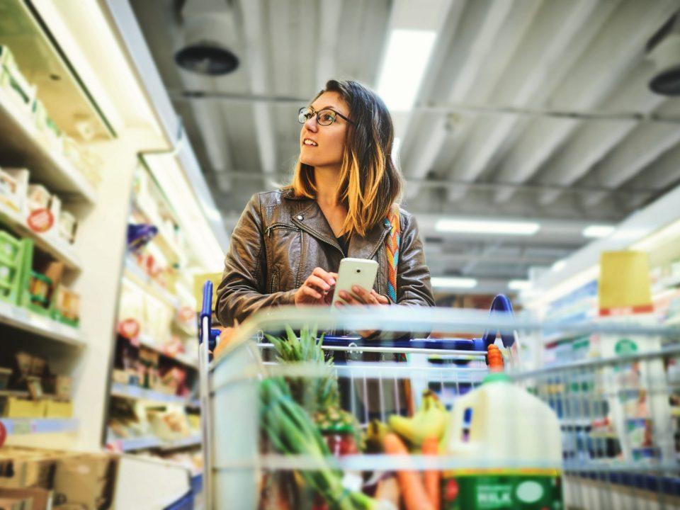 comunicação em áudio supermercado