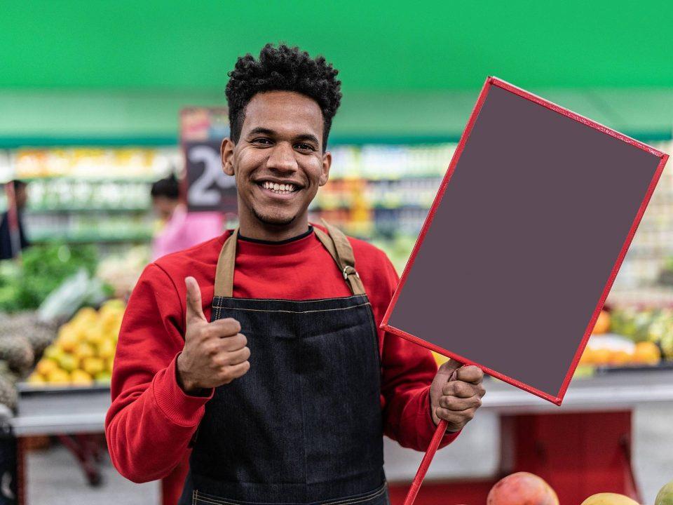 placas de supermercado