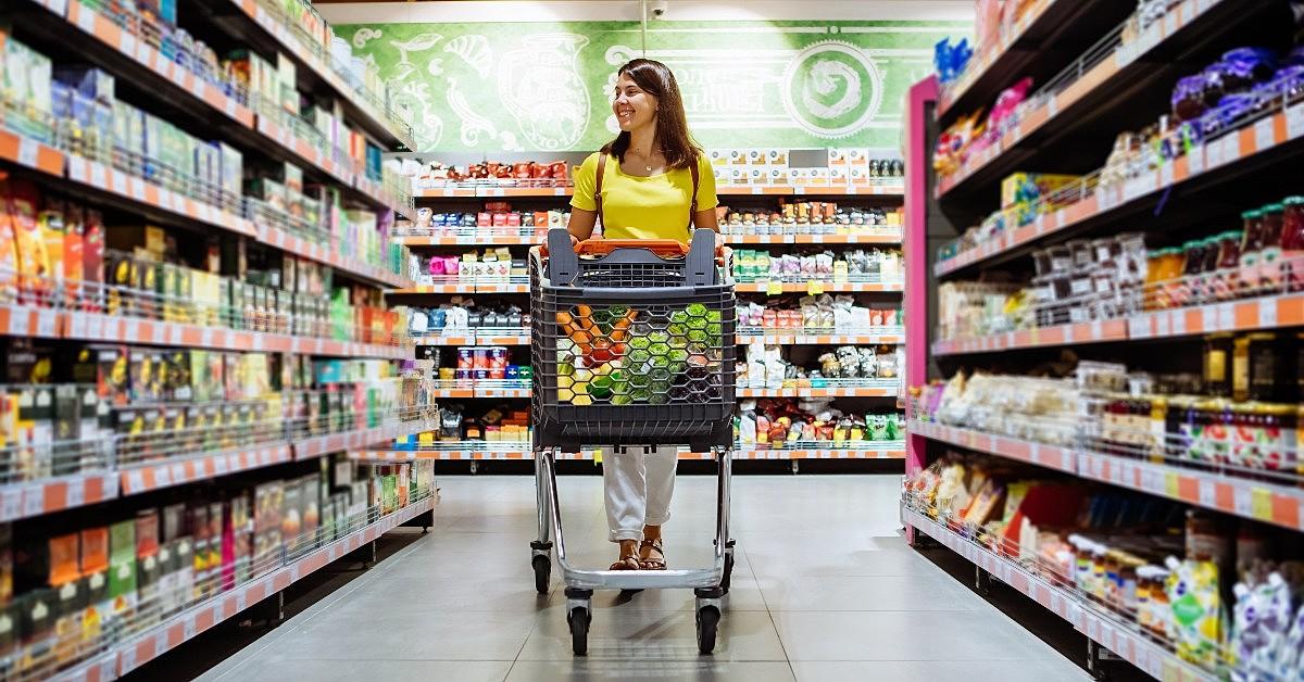 setores de um supermercado
