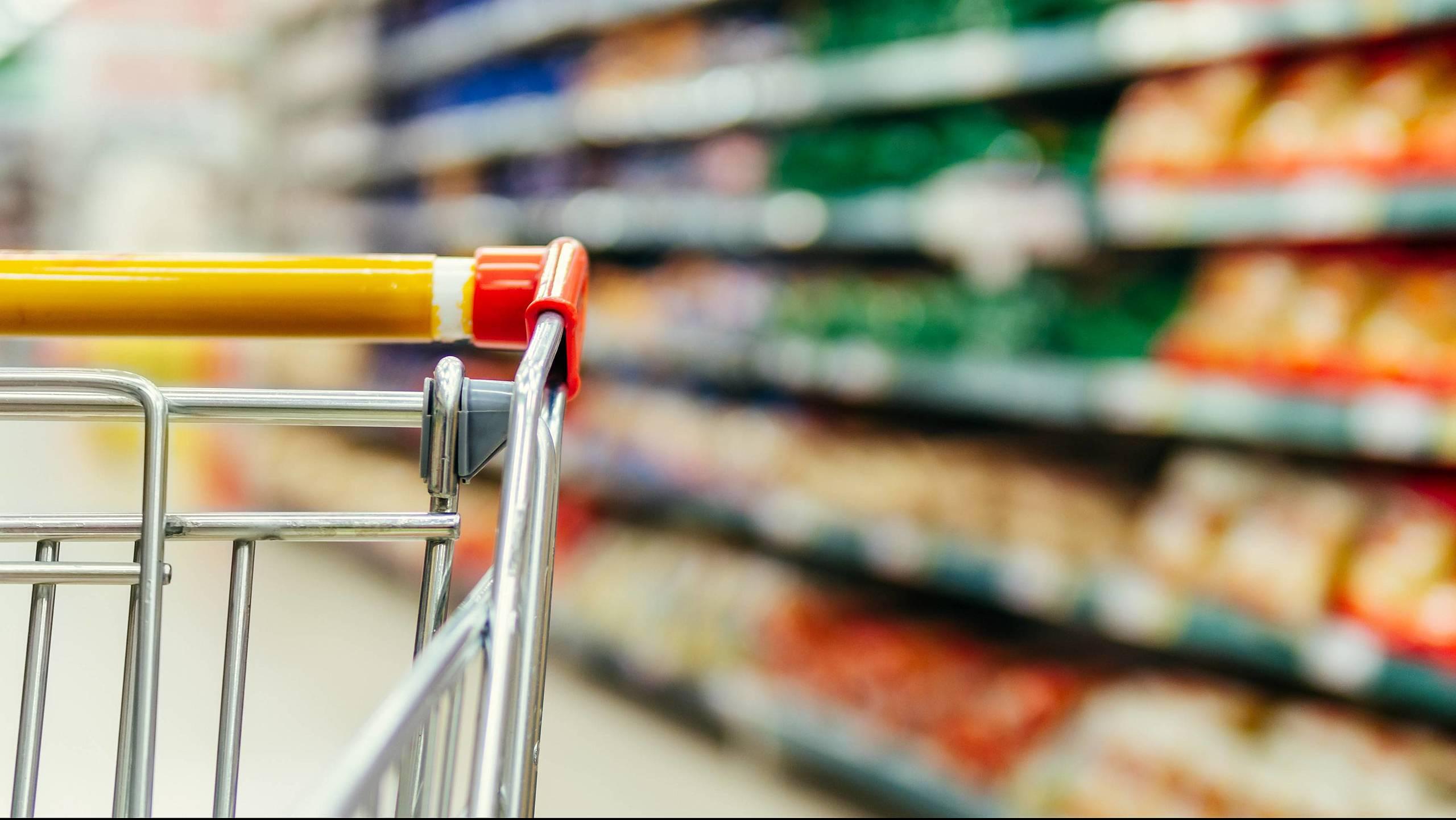 Sinalização interna do supermercado