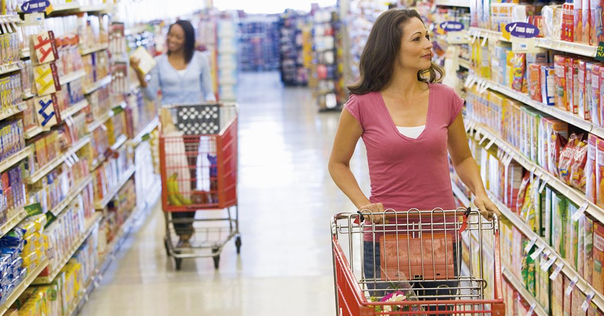 panfleto de propaganda de supermercado