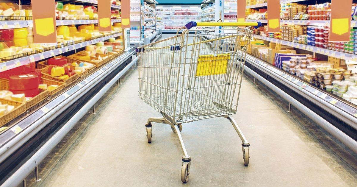 propaganda em carrinho de supermercado