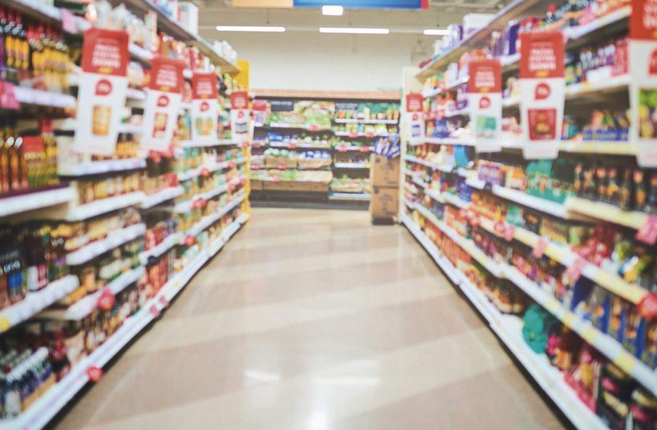 como montar seções de supermercado