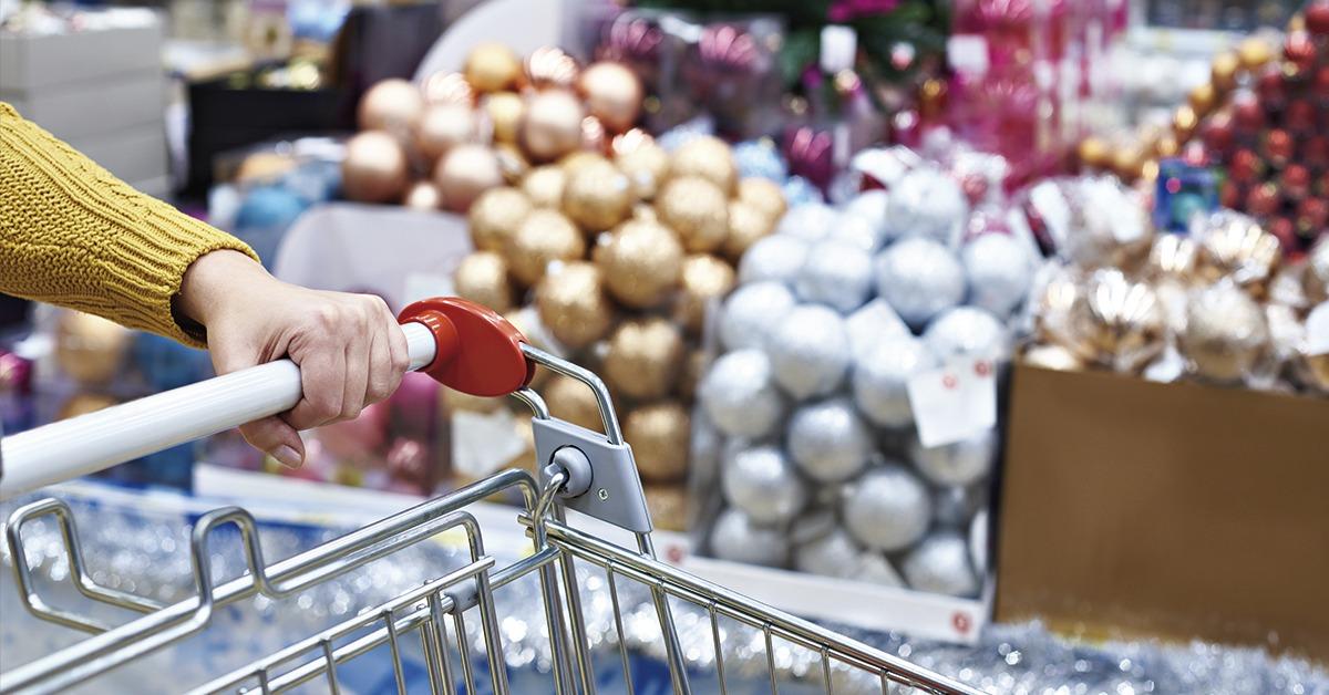 decoração de natal para supermercado