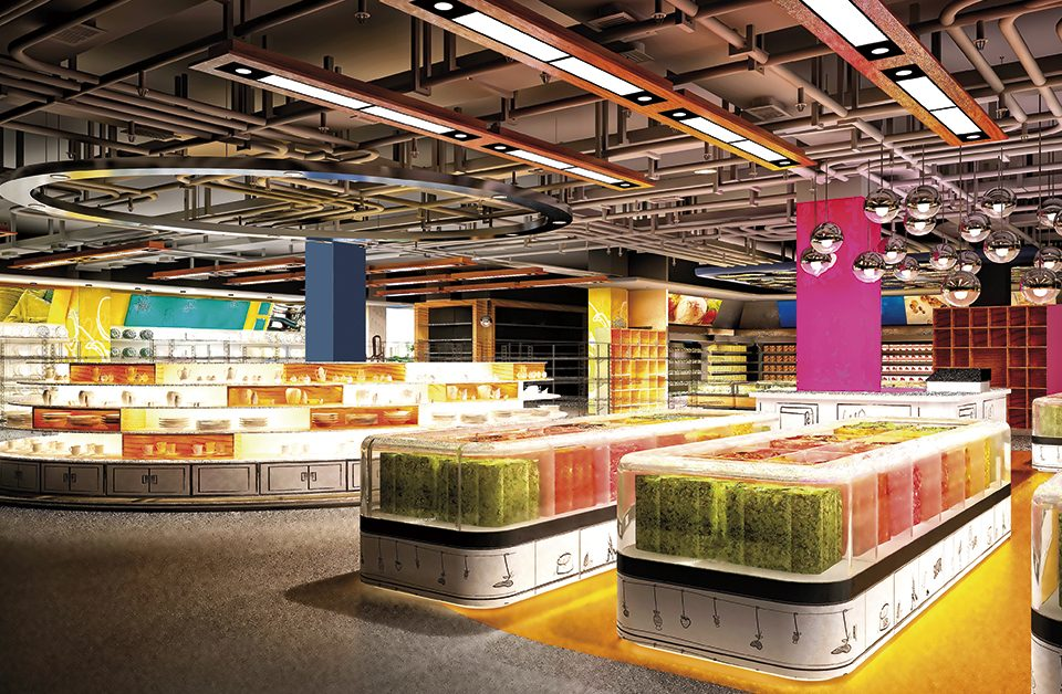 ilha de produtos para supermercado