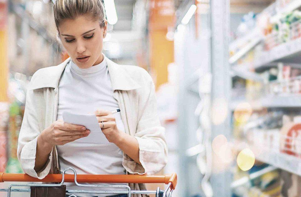 lista de produtos para montar um supermercado