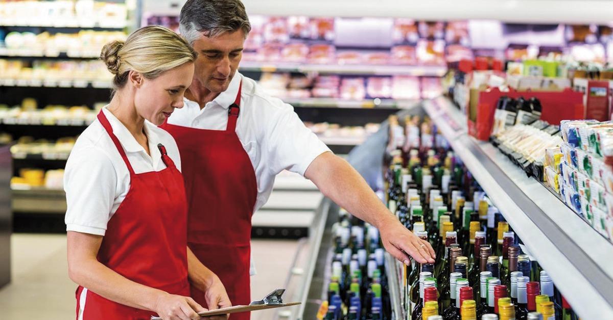 cargos de um supermercado