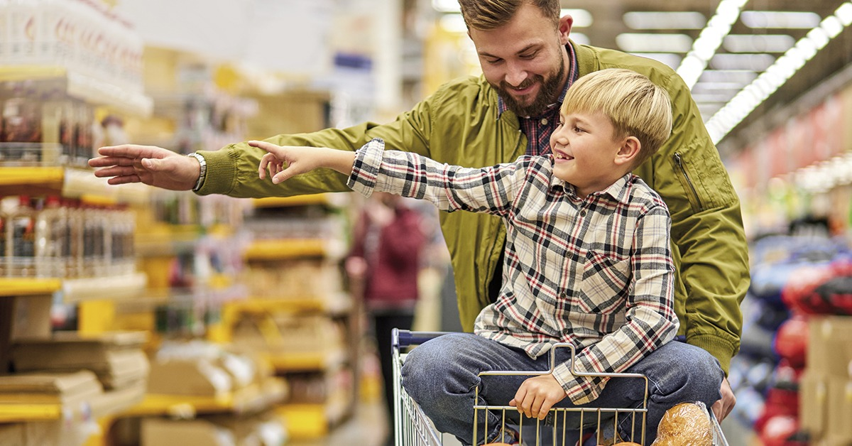 dia dos pais no supermercado