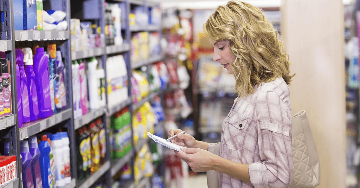 checklist de supermercado