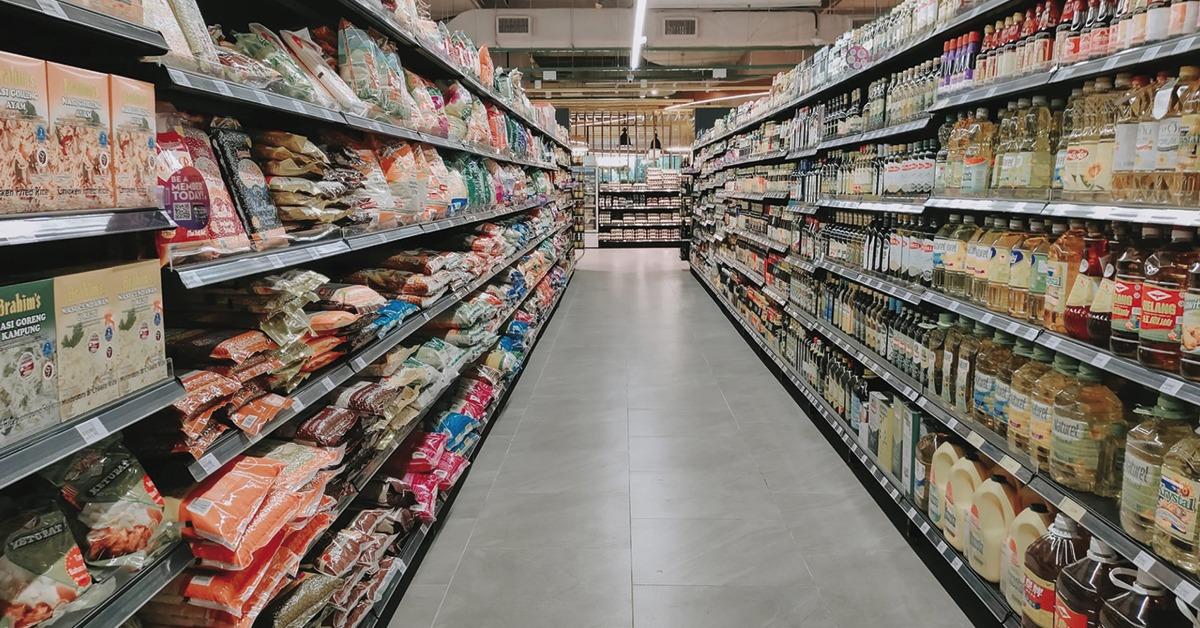 seção de supermercado