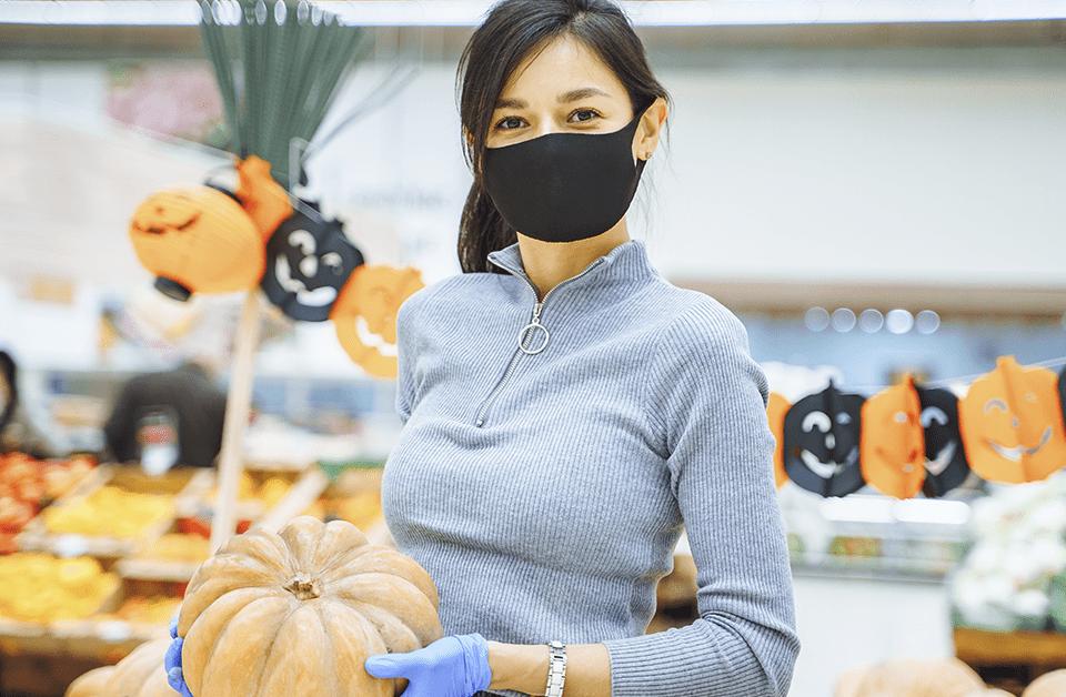 halloween no supermercado