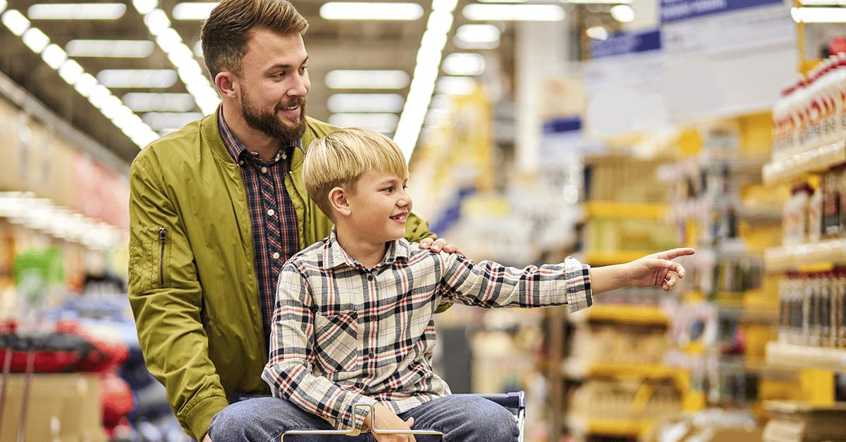 supermercado no Dia das Crianças