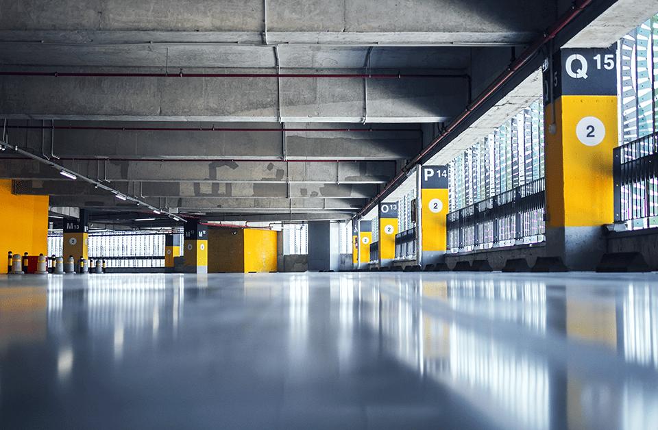 estacionamento de supermercado