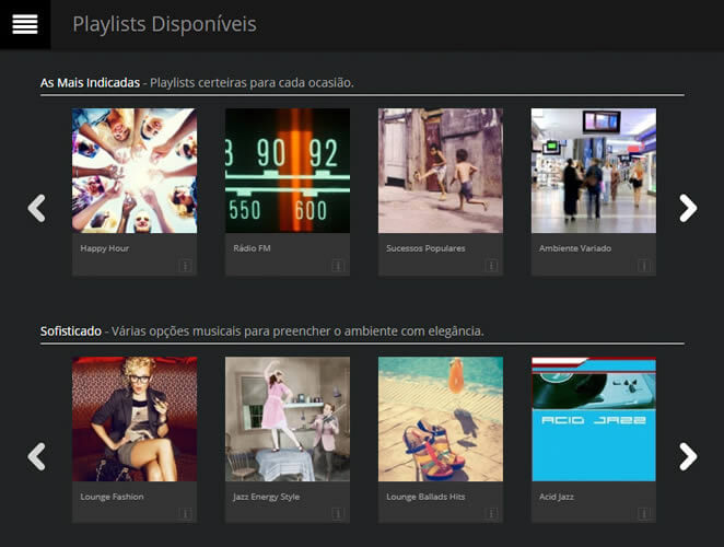 Playlists variadas